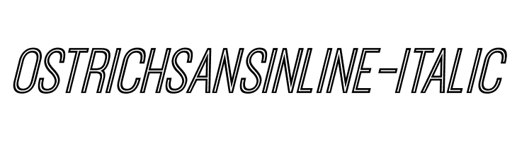 OstrichSansInline-Italic  Free Fonts Download