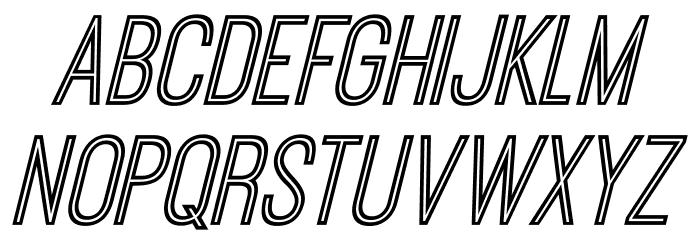 OstrichSansInline-Italic Font UPPERCASE