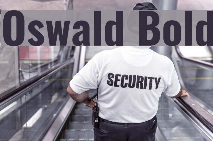 Oswald Bold Font examples