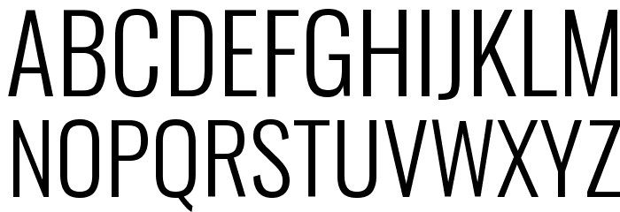 Oswald Light Font UPPERCASE