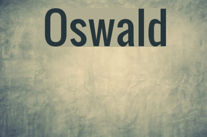 Oswald Font examples