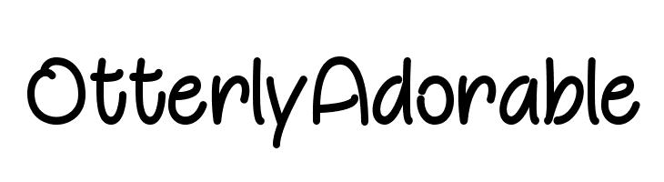 OtterlyAdorable  नि: शुल्क फ़ॉन्ट्स डाउनलोड