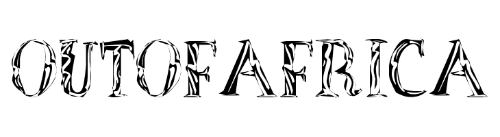 OutOfAfrica  Free Fonts Download