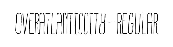 OverAtlanticCity-Regular  Free Fonts Download
