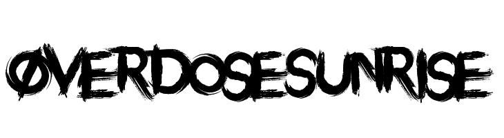 Overdose Sunrise  baixar fontes gratis