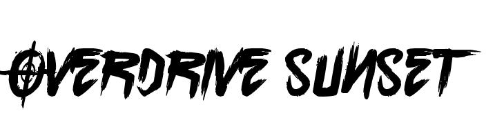 Overdrive Sunset  les polices de caractères gratuit télécharger