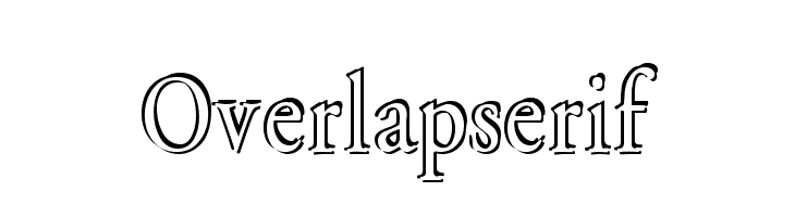 Overlapserif  Free Fonts Download