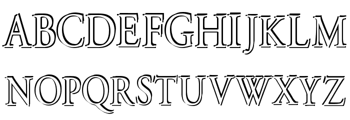Overlapserif Font Litere mari