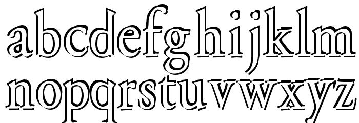 Overlapserif Font Litere mici