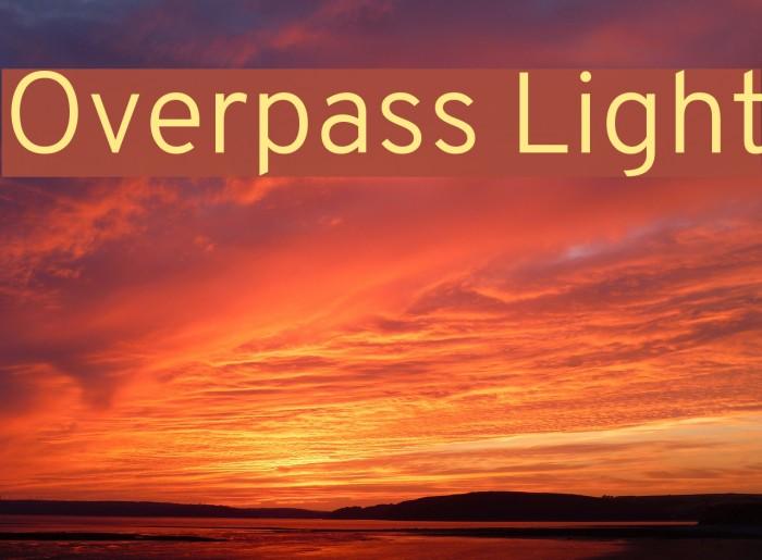 Overpass Light Font examples