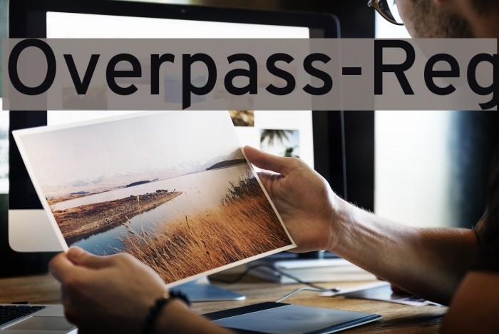 Overpass-Reg Font examples