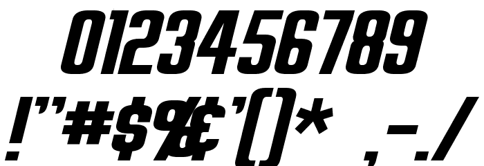 Overseer Oblique Font OTHER CHARS