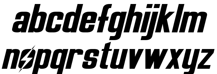 Overseer Oblique Font LOWERCASE