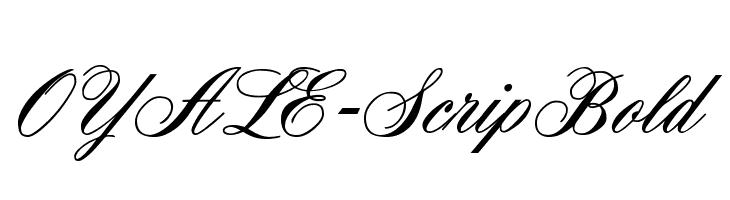 OYALE-ScripBold  Скачать бесплатные шрифты