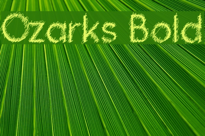 Ozarks Bold Fonte examples
