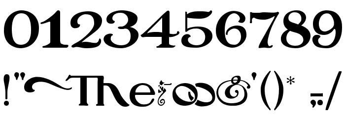 Oz's Wizard Scarecrow Font OTHER CHARS