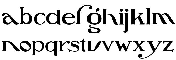 Oz's Wizard Scarecrow Font LOWERCASE