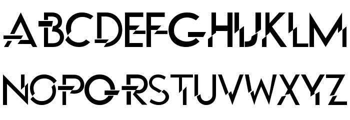 P Funked Schriftart Kleinbuchstaben