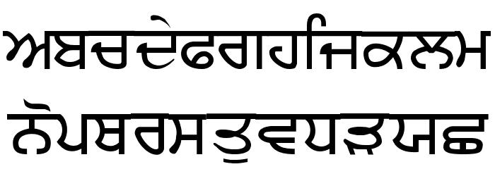P-RUBY Schriftart Kleinbuchstaben
