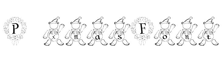 P-xmas Font  नि: शुल्क फ़ॉन्ट्स डाउनलोड