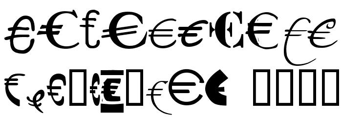 P22 Euros Schriftart Anderer Schreiben