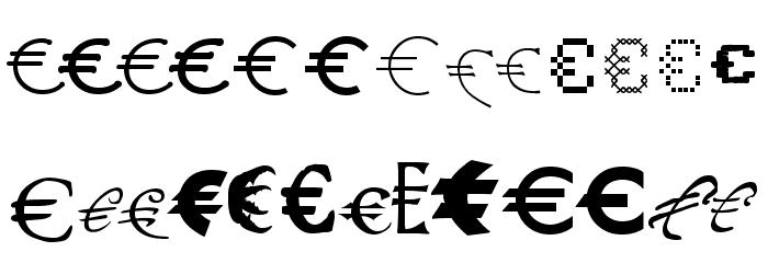 P22 Euros Schriftart Groß