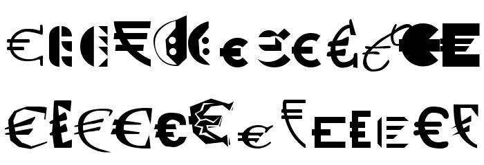 P22 Euros Schriftart Kleinbuchstaben