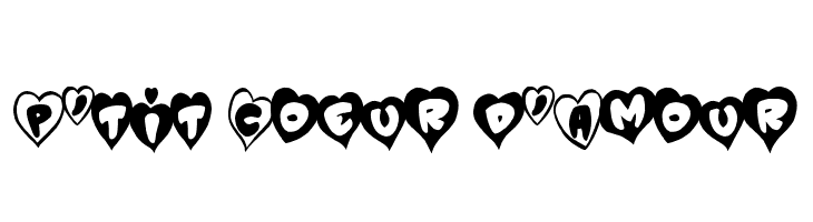 Ptit Coeur Damour Fuentes Es Free Fonts Download