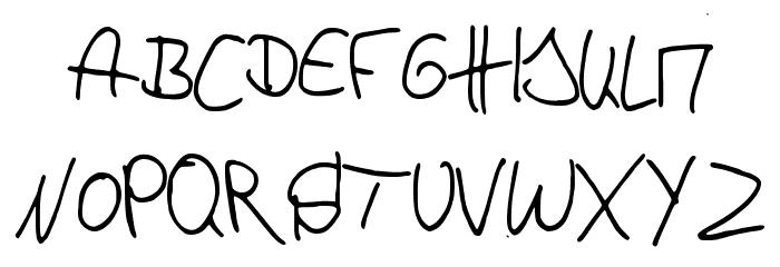p4r4d0x_h4ndwr1tt3n Schriftart Groß