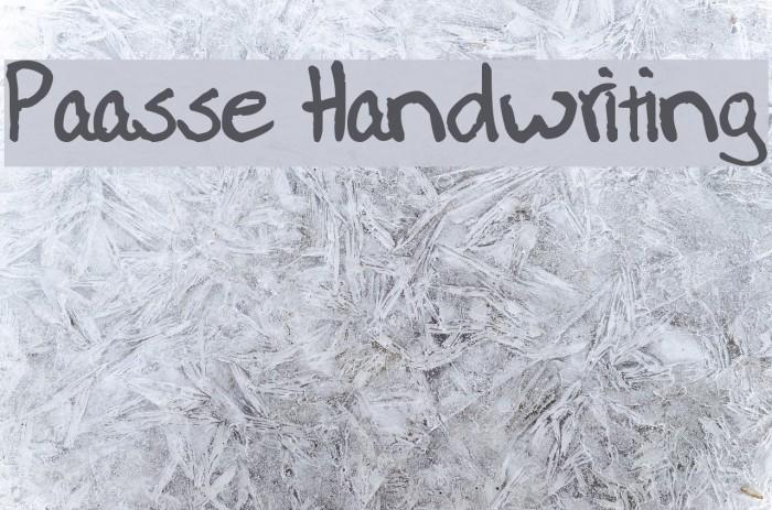 Paasse Handwriting Schriftart examples