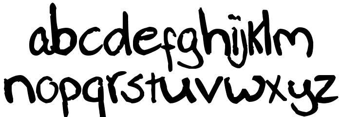 Paasse Handwriting Schriftart Kleinbuchstaben
