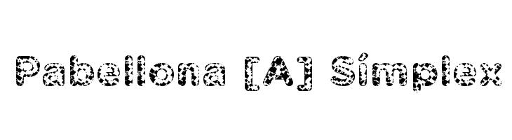 Pabellona [A] S�mplex  Скачать бесплатные шрифты