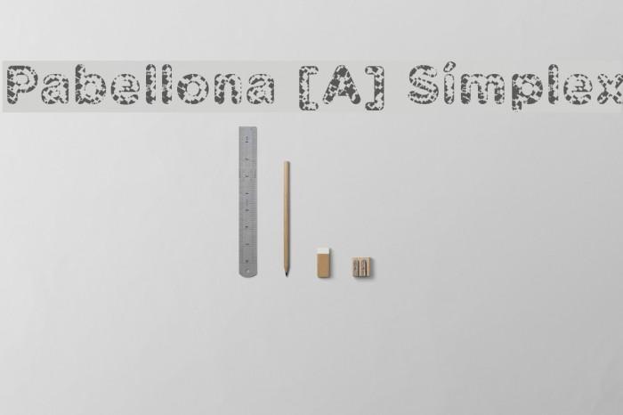 Pabellona [A] S�mplex फ़ॉन्ट examples