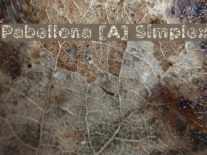 Pabellona [A] S�mplex Font examples