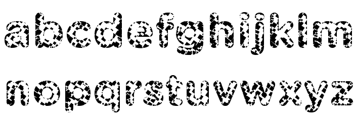 Pabellona [A] S�mplex Font LOWERCASE