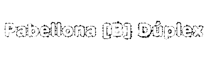 Pabellona [B] D�plex  免费字体下载