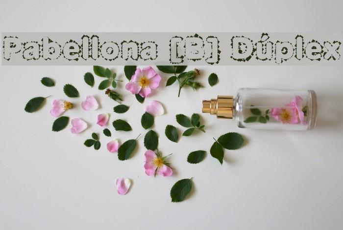 Pabellona [B] D�plex Font examples