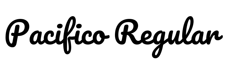 Pacifico Regular Font