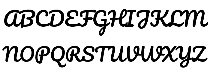 Pacifico Regular Font UPPERCASE