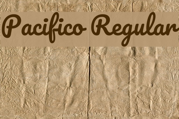 Pacifico Regular Font examples