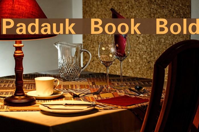 Padauk Book Bold Font examples