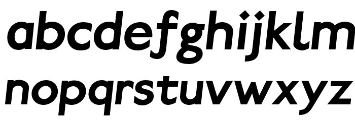 Paddington Bold Italic Font LOWERCASE