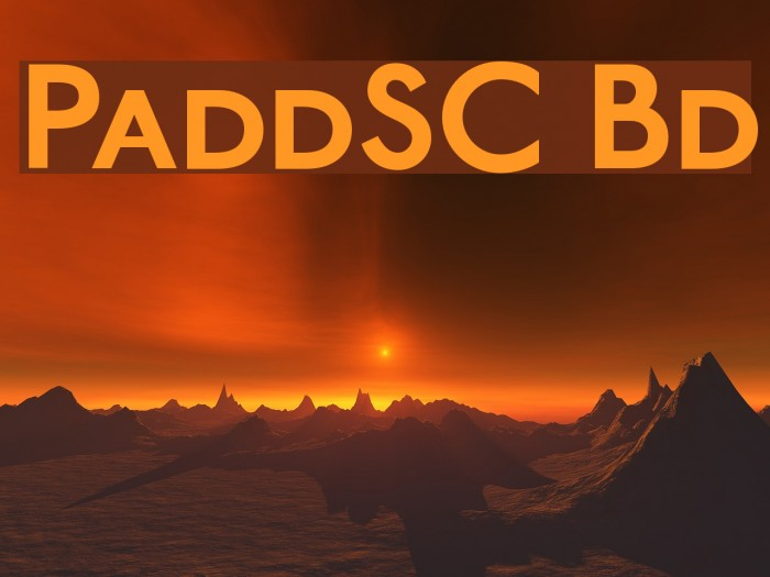PaddingtonSC Bold Font examples