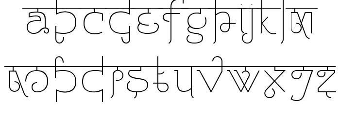 Padmashri Light Font LOWERCASE
