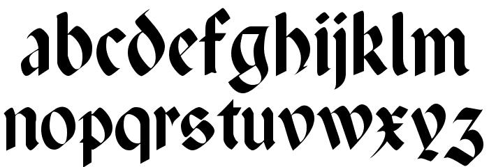 Paganini Light Font LOWERCASE