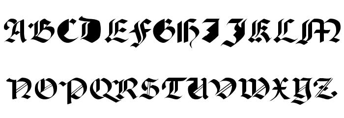 Paganini Font UPPERCASE