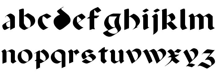 Paganini Font LOWERCASE