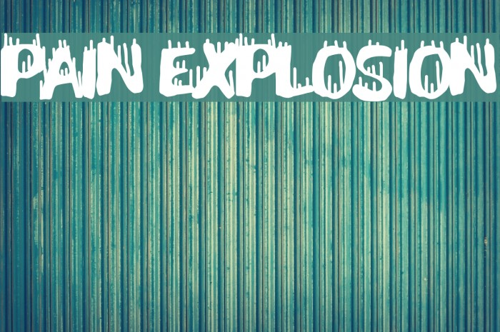 Pain Explosion Font examples