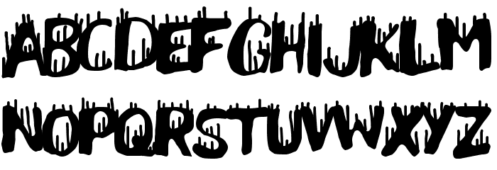Pain Explosion Font LOWERCASE