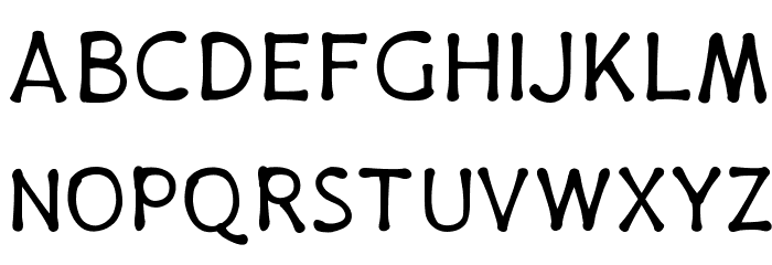 PajamaPants Font UPPERCASE